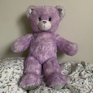 Build-A-Bear Lilac Sparkly Bear Plush